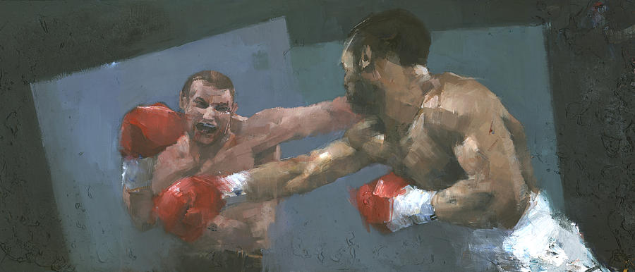 Boxing Painting - Endgame by Steve Mitchell