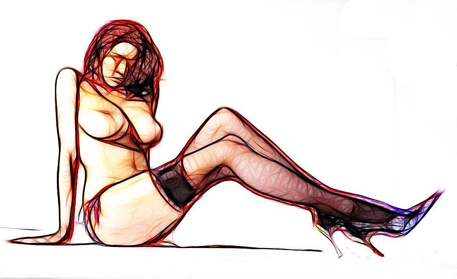 Endless Legs Drawing by Steve K