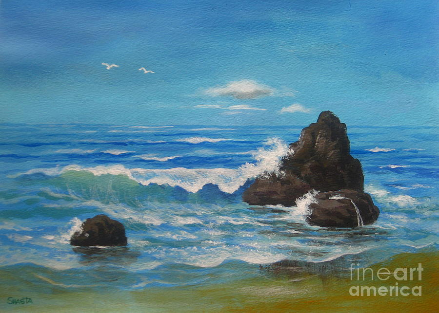 Serenity Scenes Landscapes Painting - Endless  Motion by Shasta Eone