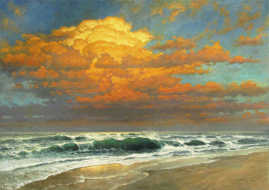 Seascape Painting - Endless Sea by David Henderson