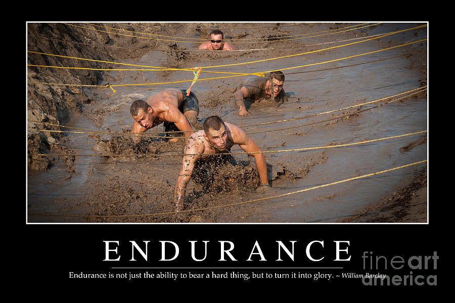 Horizontal Photograph - Endurance Inspirational Quote by Stocktrek Images