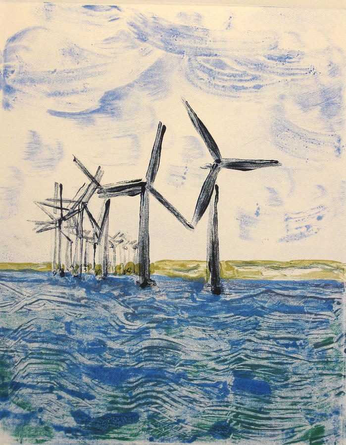 Wind Painting - Energy Mill by Valerie Lynch
