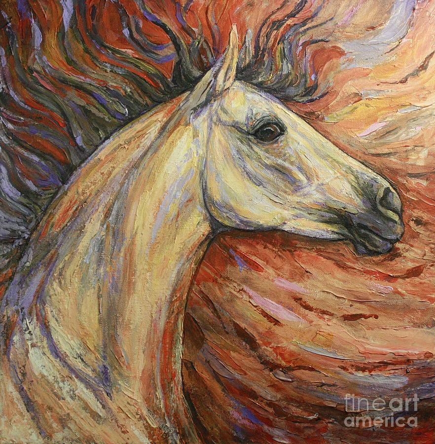 Horse Painting - Energy by Silvana Gabudean Dobre