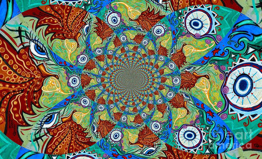 Energy Painting - Energy Sprite Kaleidosope by Genevieve Esson
