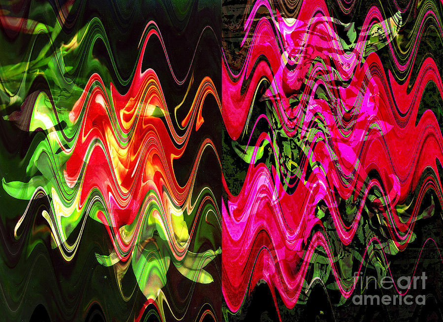 Abstract Digital Art - Energy by Yael VanGruber