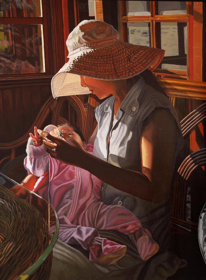 Baby Painting - Enfamil At Ha Long Bay Vietnam by Thu Nguyen