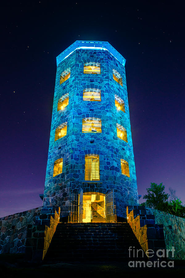 Enger Tower Photograph - Enger After Dark by Ever-Curious Photography