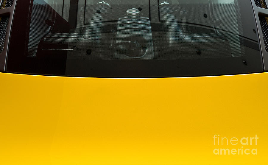 Yellow Photograph - Engine Bay Rear Window by Rick Piper Photography