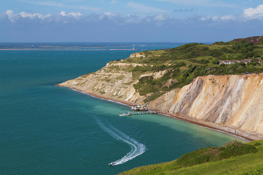 England, Isle Of Wight, View Of Alum Photograph by Westend61