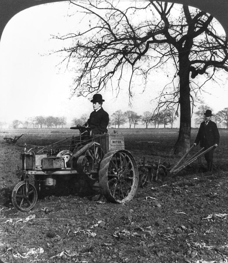 1905 Painting - England Motor Plow, C1905 by Granger