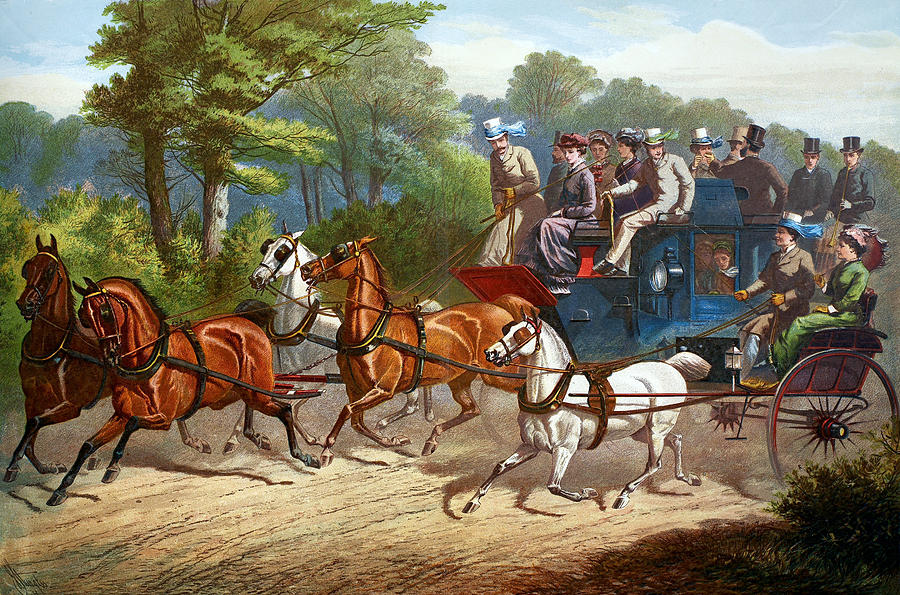 1880 Painting - England Road Travel, 1880 by Granger