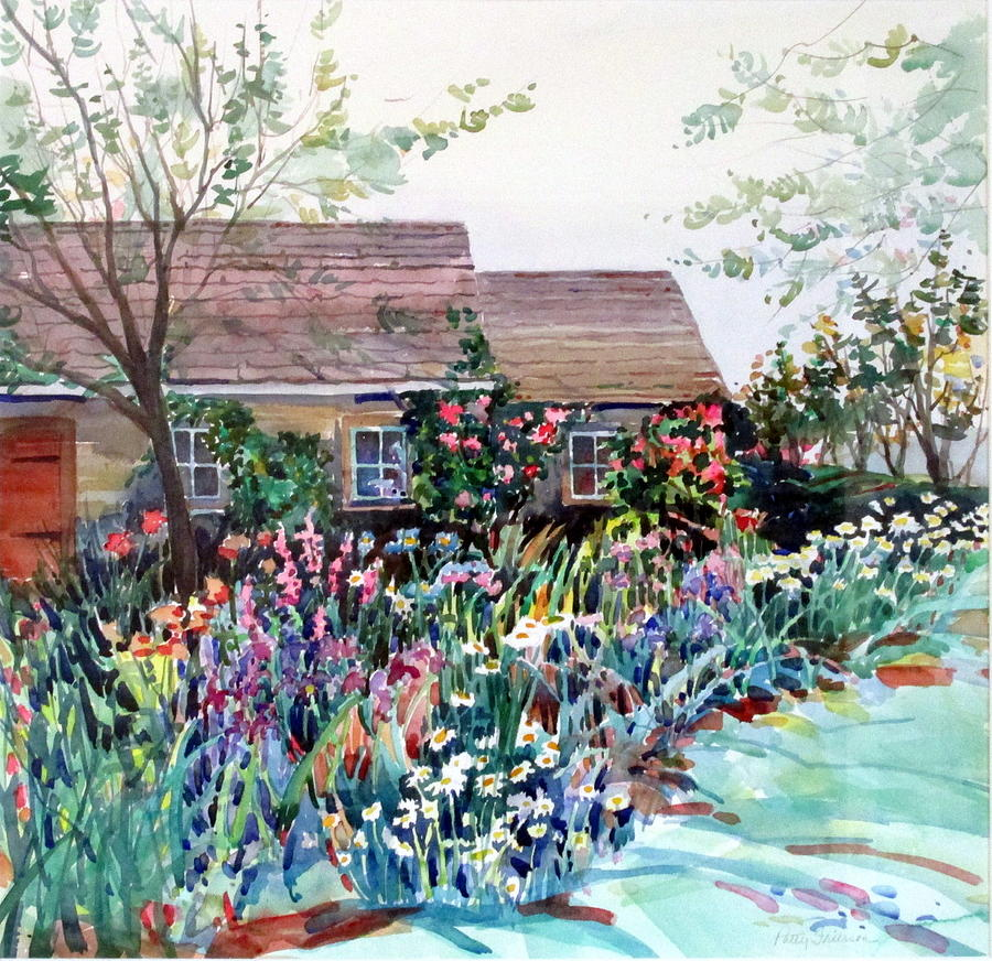 English Cottage Garden Painting By Patty Frierson