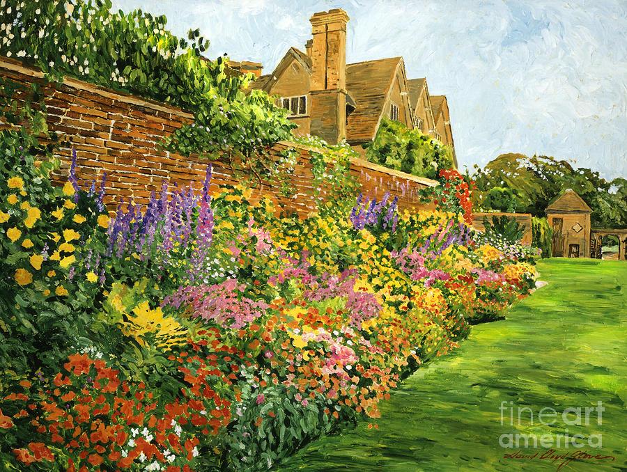 English estate gardens painting by david lloyd glover for Garden design ideas for medium gardens