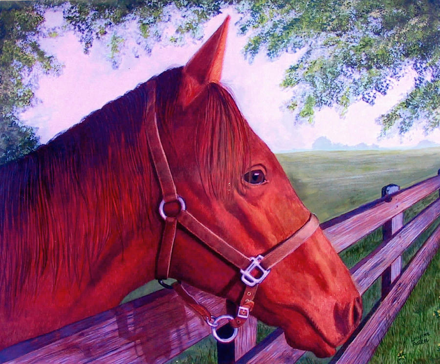 Horses Mixed Media - English Horse by Lorraine Foster
