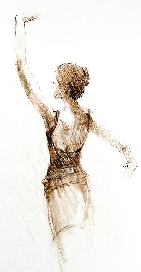 Sketch Pastel - English National Ballet Student by Jackie Simmonds
