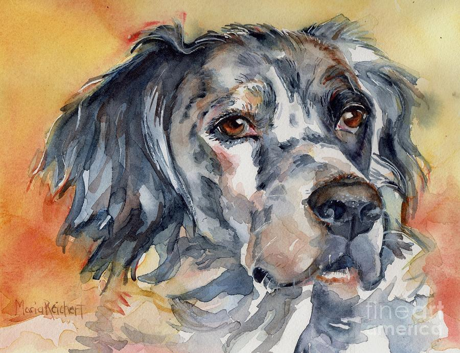 English Setter Painting - English Setter Portrait by Maria Reichert