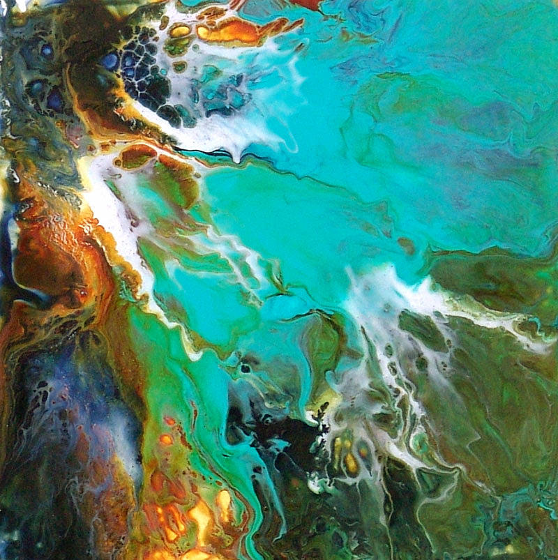 Abstract Painting Painting - Enigma by Catherine Jeltes