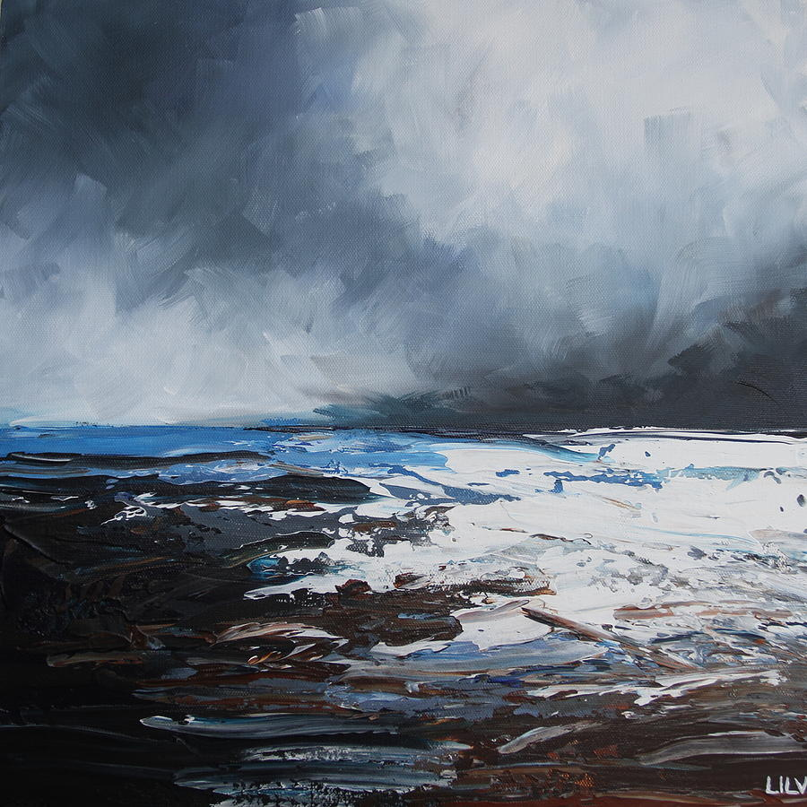 Landscape Painting - enigma SOLD by Lilu Lilu