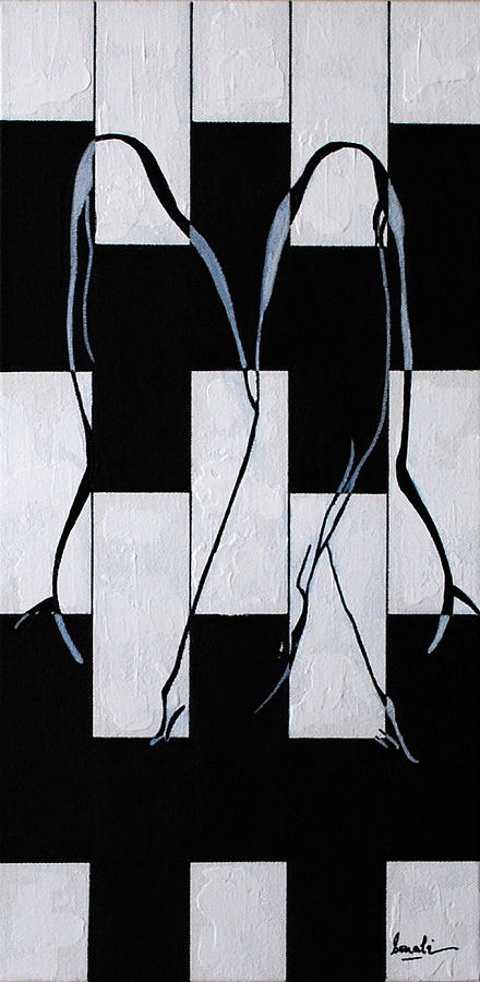 Black And White Painting - Enigmatic 2 by Sonali Kukreja