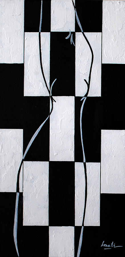 Black And White Painting - Enigmatic  by Sonali Kukreja