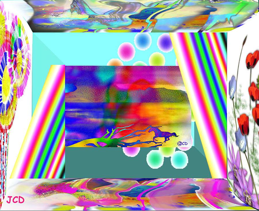 Montage Digital Art - Enjoy This by Jean-Claude Delhaise