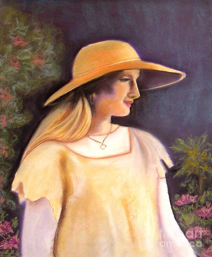 Lady Pastel - Enjoying A Beautiful Garden by Lamarr Kramer