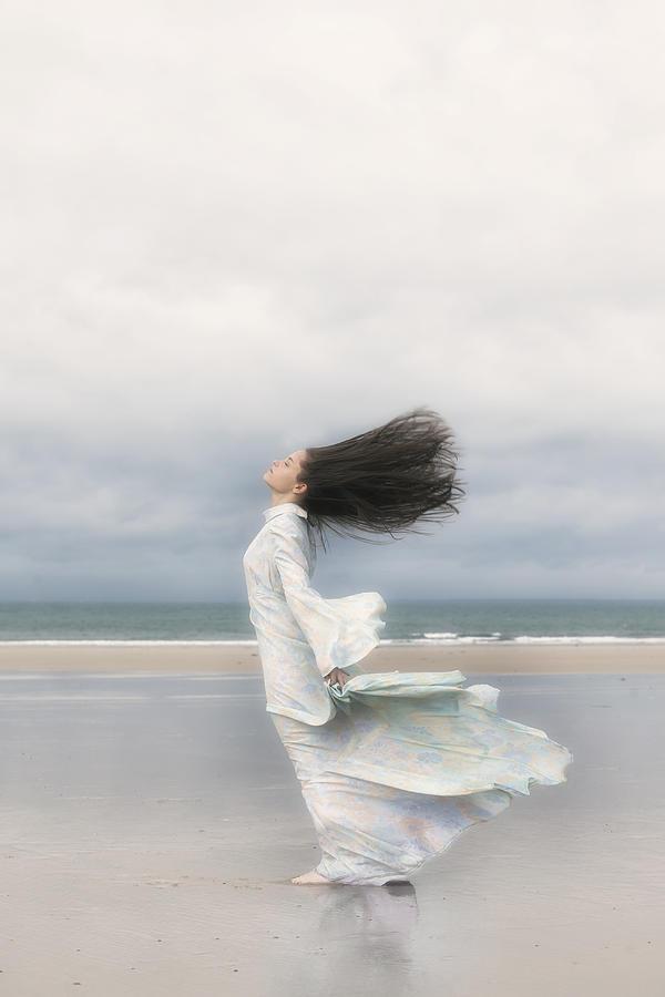 Woman Photograph - Enjoying The Wind by Joana Kruse