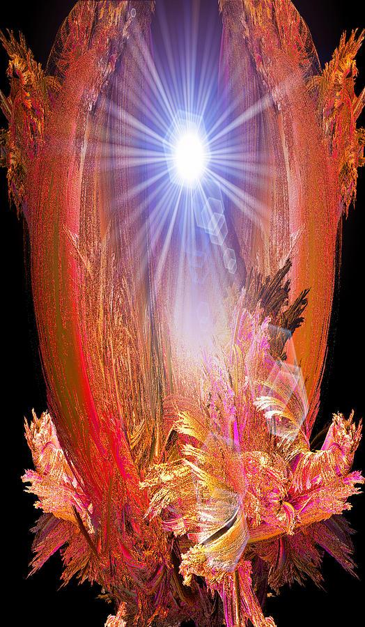 Fractal Digital Art - Enlightened One by Michael Durst