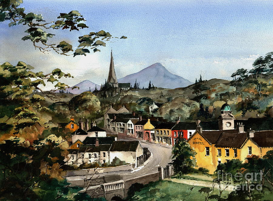 Val Byrne Painting - Enniskerry Panorama Wicklow by Val Byrne