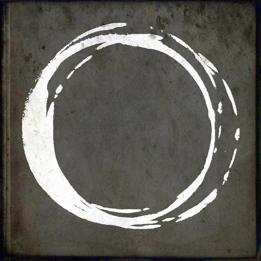 Gray Painting - Enso No. 107 Gray Brown by Julie Niemela