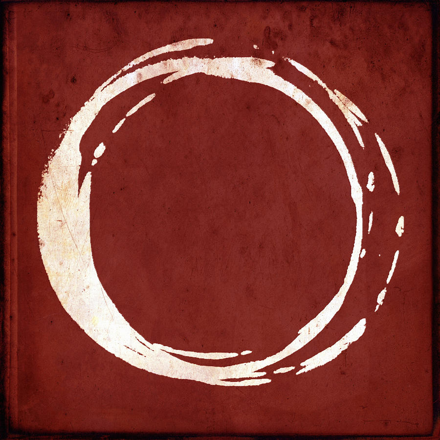 Red Painting - Enso No. 107 Red by Julie Niemela
