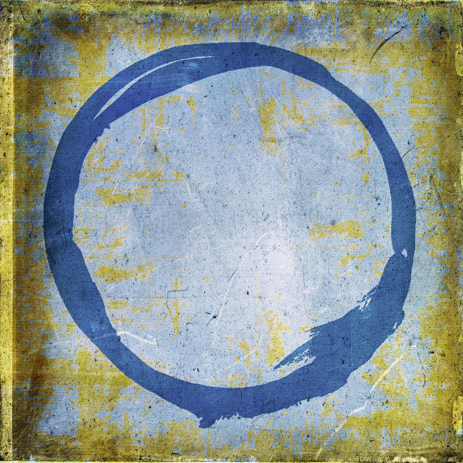 Enso No. 109 Blue On Blue Painting