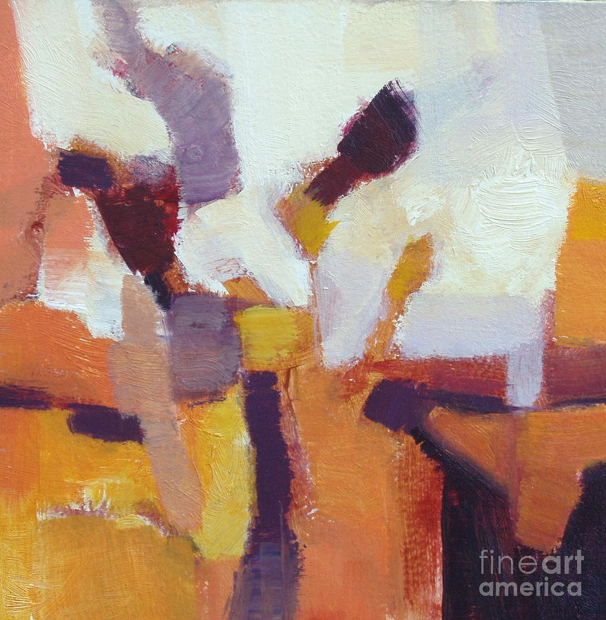 Square Painting - Entangled I by Virginia Dauth