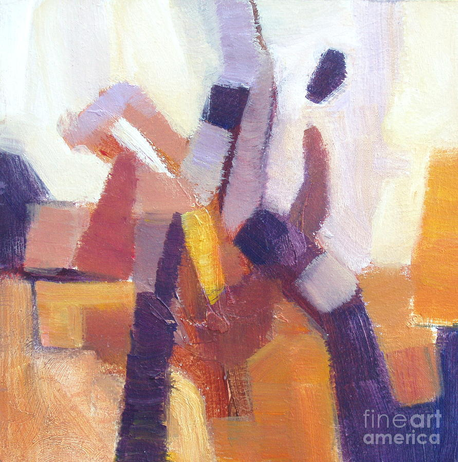 Purple Painting - Entangled II by Virginia Dauth