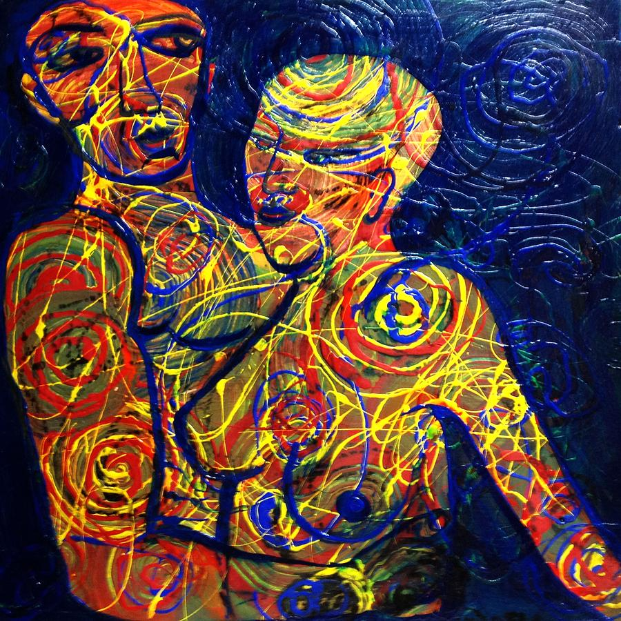 Lovers Painting - Entangled by Michaela Kraemer