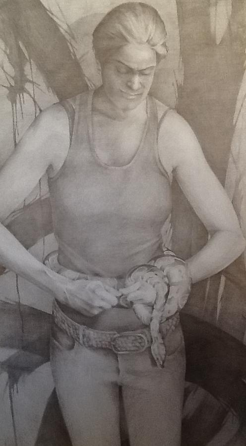 Drawing - Entanglement by Julie Orsini Shakher