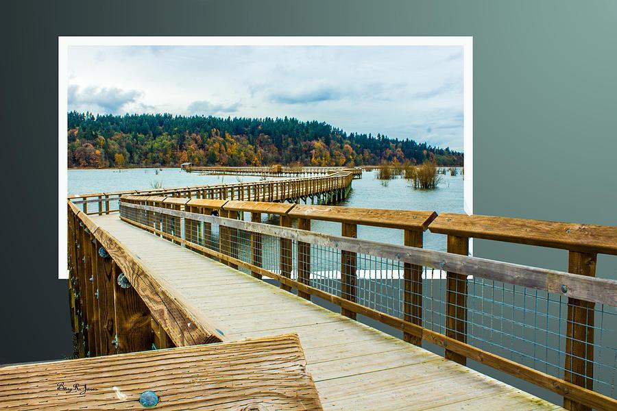 Enter Here Photograph - Landscape - Boardwalk - Enter Here by Barry Jones
