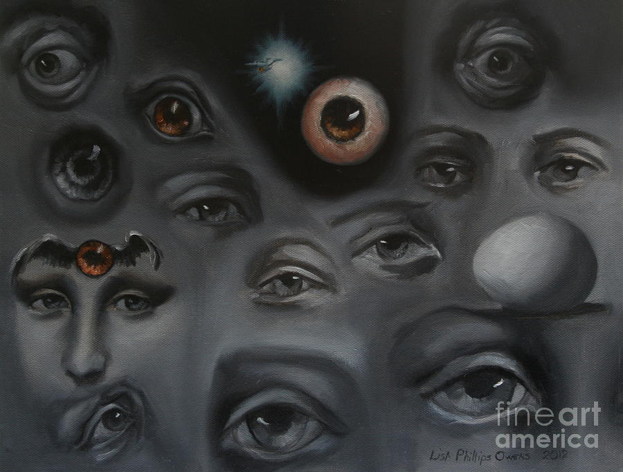 Eyes Painting - Enter-preyes by Lisa Phillips Owens