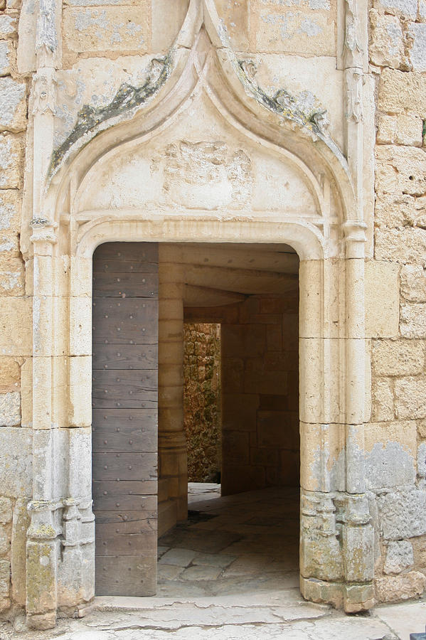 French Castle Door Photograph - Enter The Castle Door by Georgia Fowler