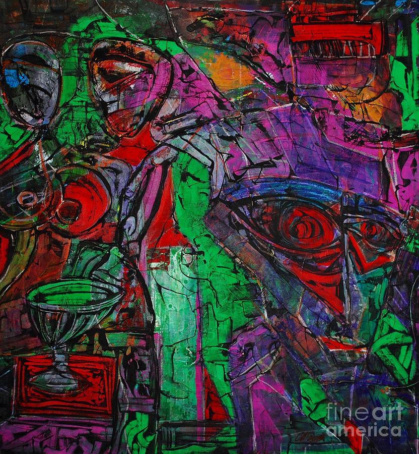 Enter The Void. 114 X 122 Cm. Original Acrylic Painting.  Painting by Vjacheslav Leschinsky