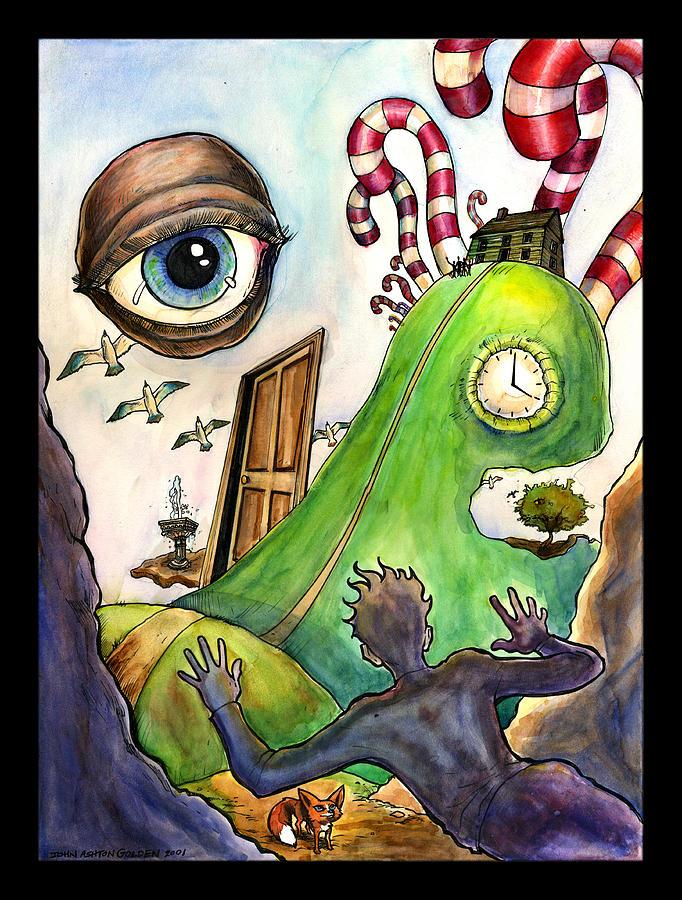 Dream Painting - Entering The Lucid Dream by John Ashton Golden