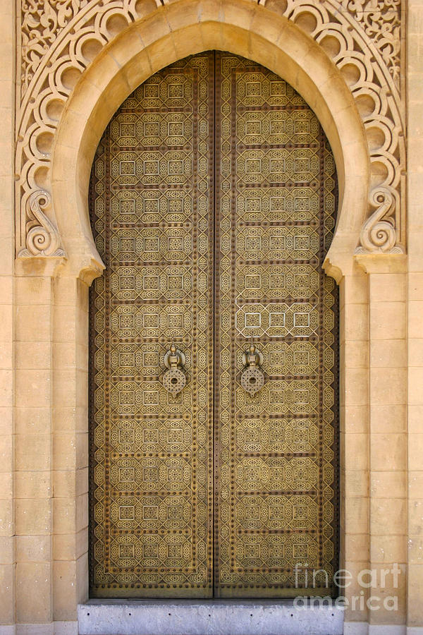 Entrance Door Photograph - Entrance Door to the Mausoleum Mohammed V Rabat Morocco by PIXELS  XPOSED Ralph A Ledergerber Photography