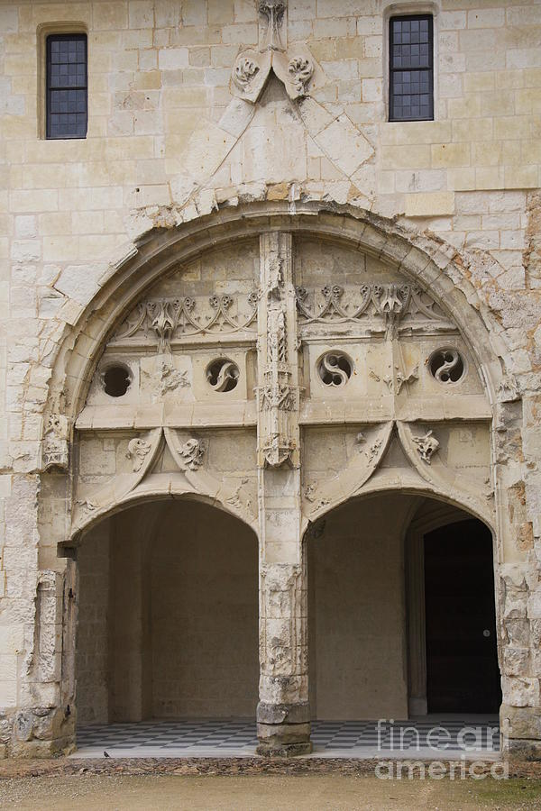 Cloister Photograph - Entrance Fontevraud Abbey- France by Christiane Schulze Art And Photography