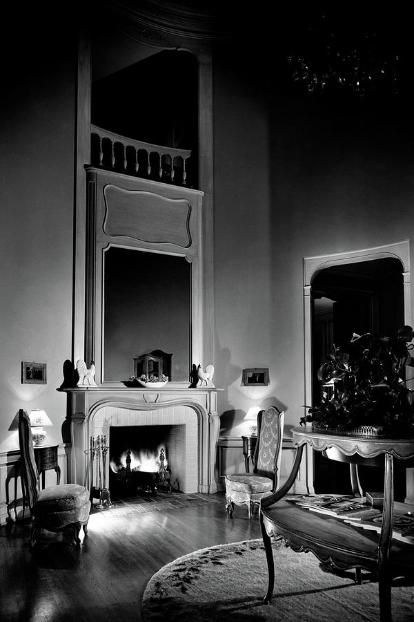Entrance Hall Of Joan Bennett And Walter Wagners Photograph by Maynard Parker