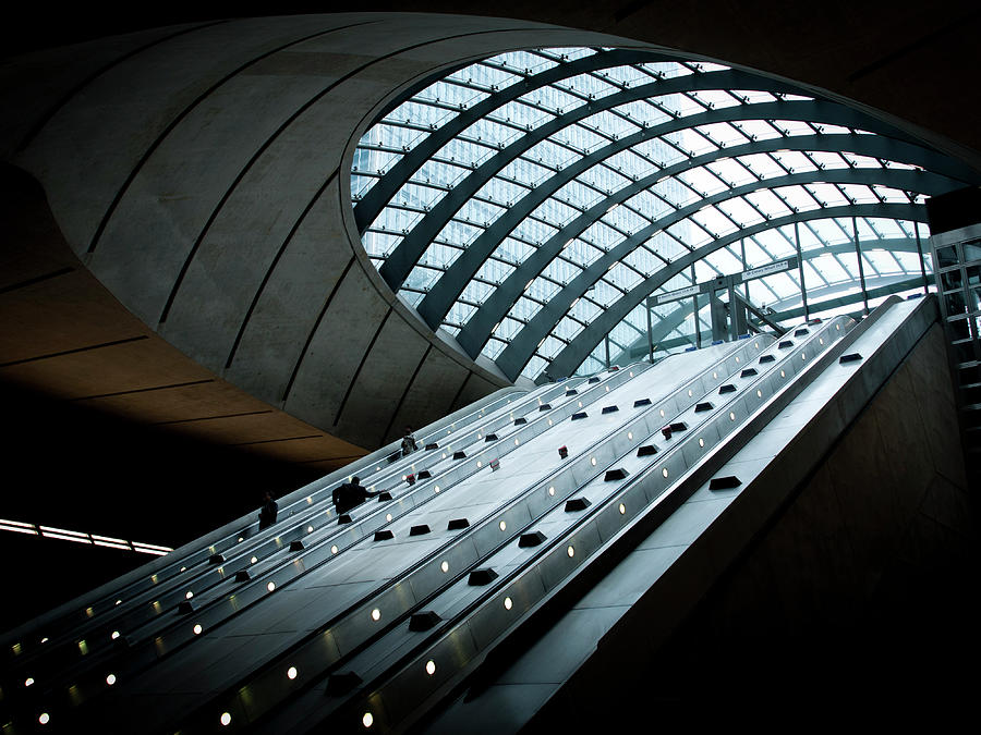 Entrance To The Canary Wharf Tube Photograph by Amos Chapple