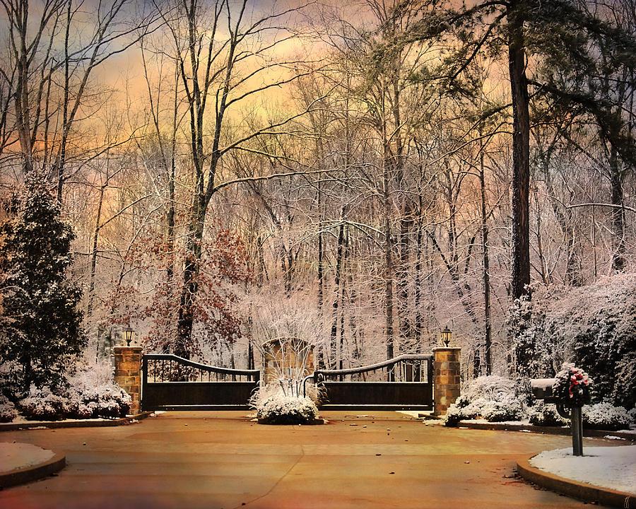 Gate Photograph - Entrance To Winter by Jai Johnson