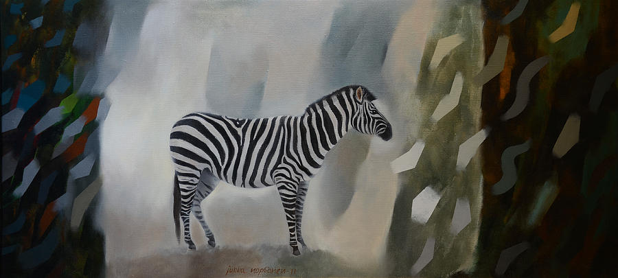 Zebra Painting - Entropy by Jukka Nopsanen