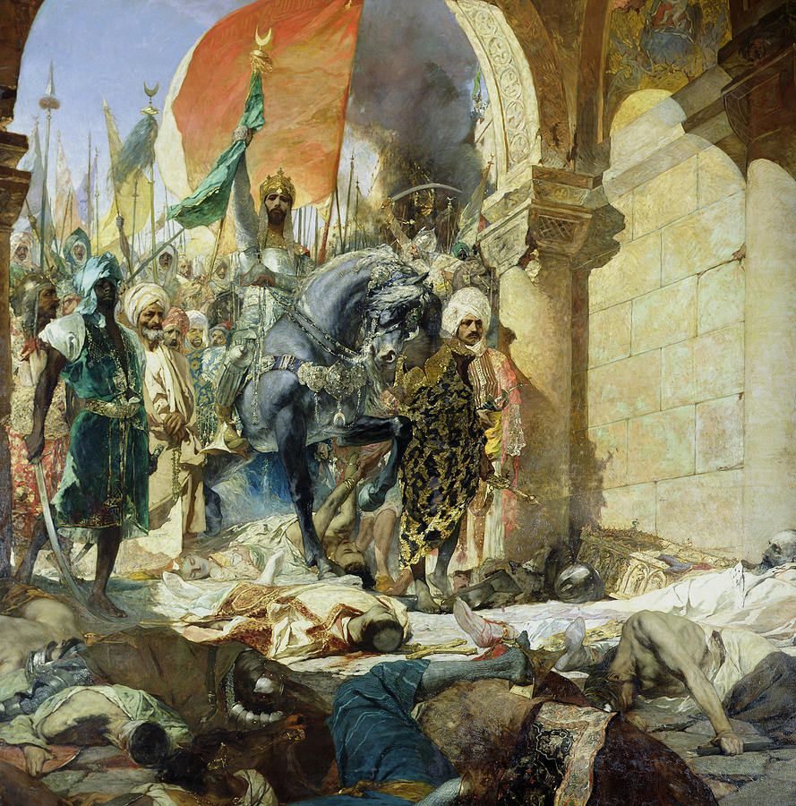 Byzantium Painting - Entry Of The Turks Of Mohammed II by Benjamin Constant