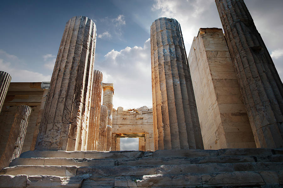 Entryway Into The Acropolis Photograph by Ed Freeman