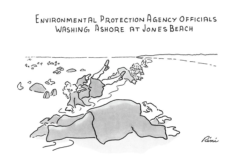 Environmental Prodection Agency Officials Washing Drawing by J.P. Rini